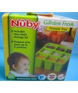 Nuby Garden Fresh Freezer Tray With Lid NEW Yellow - $15.95