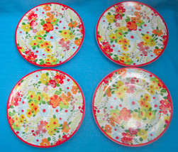 Cynthia Rowley Salad Luncheon Plates Floral Pat... - $34.21