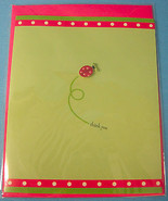 Single 3D Thank You Greeting Card & Envelope Lady Bug Design Paper Magic... - $6.75