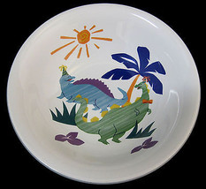 Mikasa Dino & Friends Coupe Cereal Soup Bowl #CC111 Children Kids White - $24.99