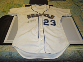 TINO MARTINEZ 1992 NEAR ROOKIE SEATTLE MARINERS SIGNED GAME USED HOME JE... - $1,484.99
