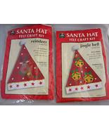 Kids Crafts Santa Hats Felt Kits Jingle Bell & Reindeer Lot of 2 - $22.99