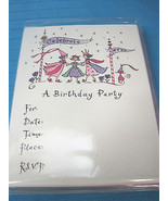 Princess Birthday Party Invitations 15 Cards & Envelopes Petite Lu*Lu - $12.24
