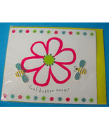 Single 3D Feel Better Greeting Card & Envelope Flower Bee Design Paper M... - $7.50