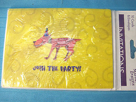 Martin Design Party Invitations 10 Cards & Envelopes Party Dog - $5.68