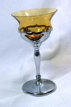 Farber Bros 1965 Kromecraft Amber Cocktail Glass - $9.69