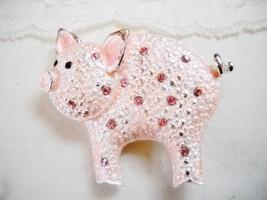 Danecraft Sparkly Pink Enamel Pig Pin - $5.00