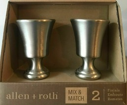 ALLEN + ROTH Curtain Rod Finials Brushed Pewter 0773157 2 Pack Set Mix & Match  - $18.95