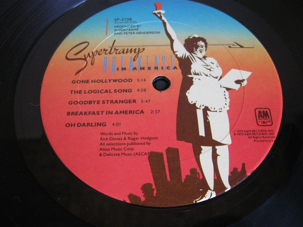 Supertramp Breakfast In America A&M SP-3708 Stereo Vinyl Record LP image 6