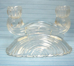 Depression Crystal Glass Candlestick Holder by the Federal Glass Company - $24.88