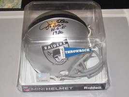 JIM OTTO # 00 HOF 1980 SIGNED AUTO RAIDERS THROWBACK MINI RIDDELL HELMET... - $98.99
