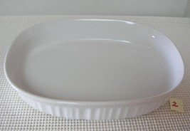 "CORNING WARE OVAL ""FRENCH WHITE"" 1.5 Quart CASS... - $14.54"