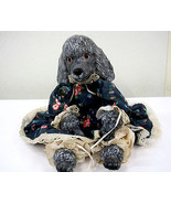 Poodle Dog Doll Ceramic Head Paws Soft Body Handmade Collectible Vintage... - $75.00