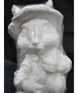 Easter Bunny Ready to Paint Farmer Ben's Veggie Garden Rabbit Plaster Fi... - $26.25