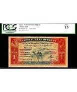 "EGYPT P18 ""CAMEL NOTE"" 1 EGYPTIAN POUND CAIRO GRADED PCGS 15! RARE!! - $2,750.00"