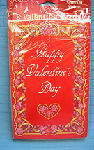 8 Happy Valentines Day Cards & Envelopes & Cards Sent Checklist - $6.50