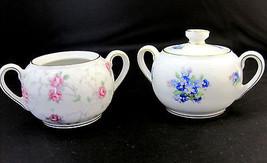 Schumann Arzberg Germany 2 Sugar Bowls Vintage Floral - $24.96