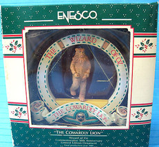 Wizard of Oz Ornament Cowardly Lion 50th Anniversary Enesco 1989 Boxed - $22.95