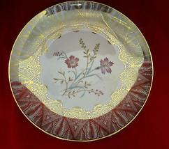 Plate Winterling Rostau Bovaria Mid-Century Gold Gilt Flower Design Collector - $30.95
