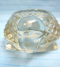 Turtle Sparkling Clear Pressed Glass Votive Candle Holder 1970's Avon #23 - $14.99