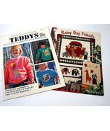 2 Craft Pattern Books Paint Appliques Sew Teddy Bears Noah Ark Animals P... - $23.15