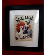 Cacao Lacte Vintage Chocolate Milk Advertisement Poster Art Print Framed - $29.99