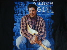 Vince Gill Country Music Concert Tour Black T Shirt Mens Size L - $15.83