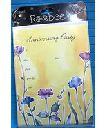 Anniversary Party Invitations 8 Cards & Envelopes  by Roobee - $6.24