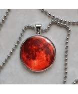 Blood Harvest Full Red Moon Pendant Necklace - $17.73 CAD+