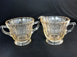 Pink Depression Indiana Glass Creamer & Sugar Bowl - $34.50