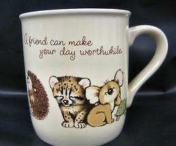 Hallmark Friendship Baby Wild  Animals  Coffee Tea Cocoa Cup Mug Mates C... - $19.95
