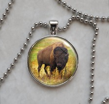 American Bison Buffalo Animal Pendant Necklace - $14.00+