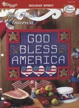 God Bless America, Plastic Canvas Pattern TNS 974007 Patriotic Holiday D... - $1.95