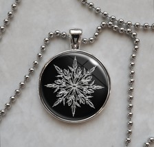Snowflake Snow Winter Frozen Ice Christmas Pendant Necklace - £10.64 GBP+