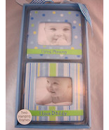 Picture Frames Photo Display Baby Blue 2 Hanging First Impressions Macy's - $26.95