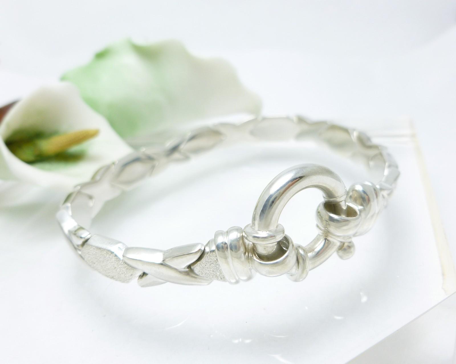 """Illustra Sterling Silver 7"""" Stampato Bracelet, 16.5g"""