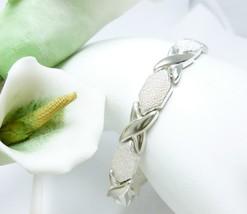"""Illustra Sterling Silver 7"""" Stampato Bracelet, 16.5g - $59.00"""