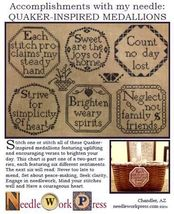 Quaker Inspired Medallions cross stitch chart Needlework Press - $12.00