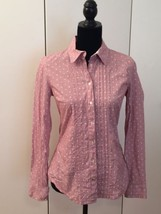 Tommy Hilfiger Red Button Down Blouse Size Medi... - $28.71