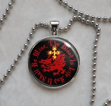 Choose Quote Dracula Order of Dragon Vampire Pendant Necklace - £10.64 GBP+