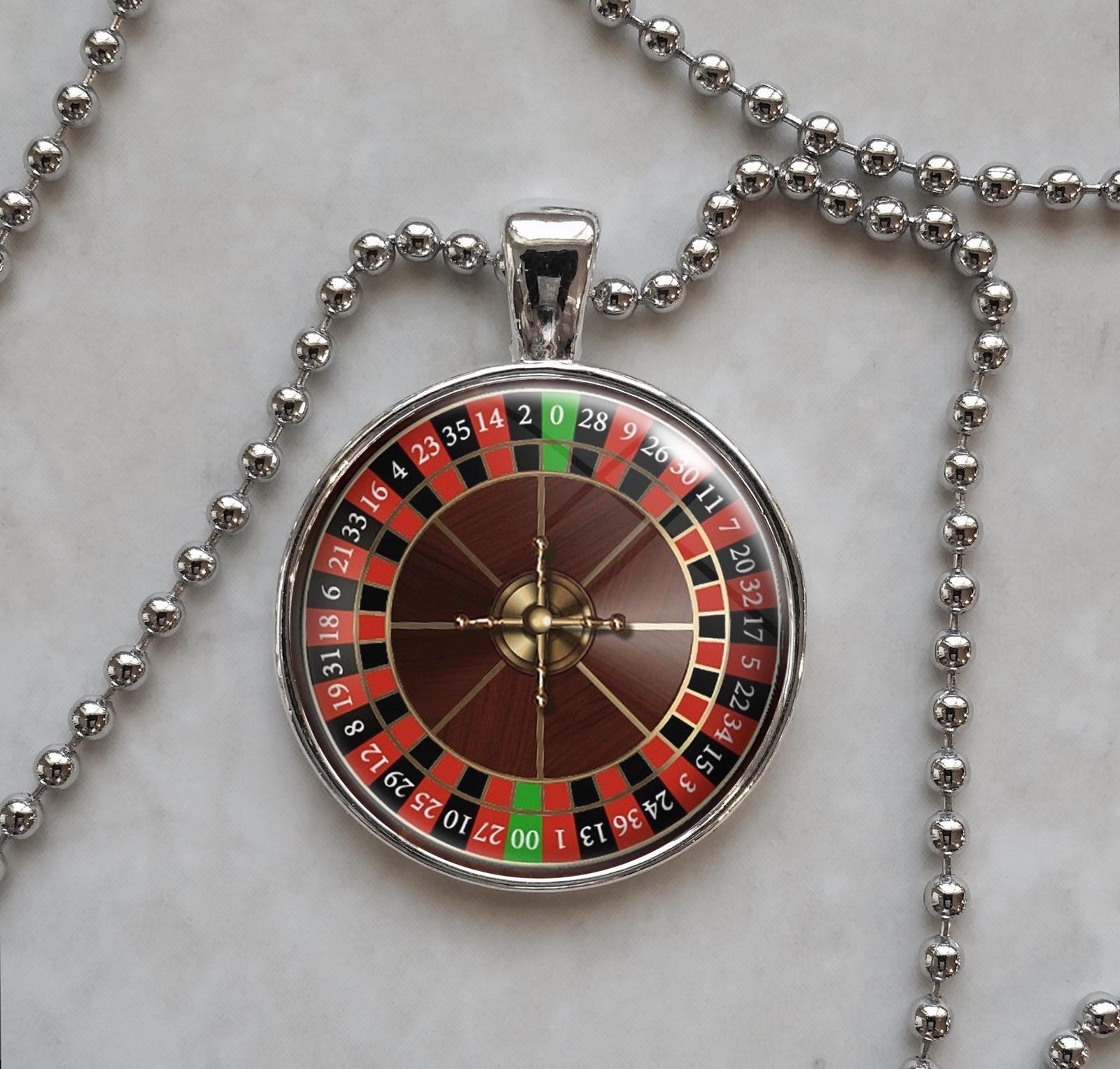 Primary image for Roulette Wheel Game Gambling Betting Vice Pendant Necklace