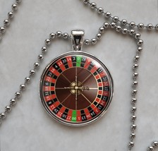 Roulette Wheel Game Gambling Betting Vice Pendant Necklace - £10.64 GBP+