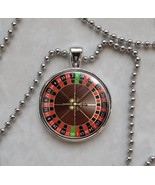 Roulette Wheel Game Gambling Betting Vice Pendant Necklace - $14.85+
