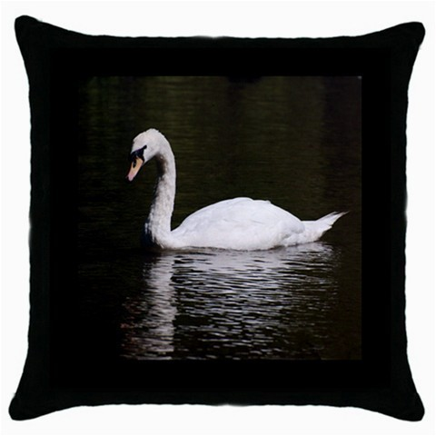 Throw Pillow Case Decorative Cushion Cover White Swan Gift
