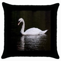 Throw Pillow Case Decorative Cushion Cover White Swan Gift - $16.99