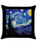 Throw Pillow Case Decorative Cushion Cover Vincent Van Gogh Starry Night... - $16.99