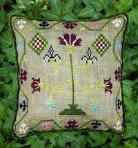 Flower Frenzy #2 cross stitch chart Threads of Memory - $7.20