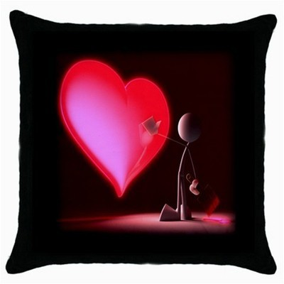 Throw Pillow Case Decorative Cushion Cover Touch My Red Heart Gift