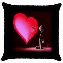 Throw Pillow Case Decorative Cushion Cover Touch My Red Heart Gift - $16.99