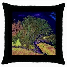 Throw Pillow Case Decorative Cushion Cover The Lena River Delta Gift - £12.71 GBP